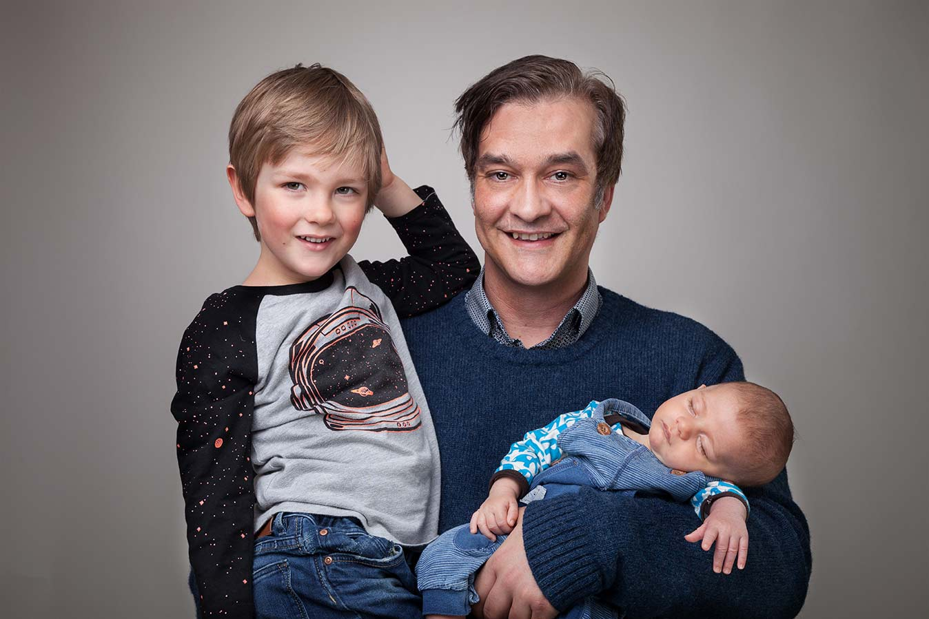 Der Fotograf für Familienfotos