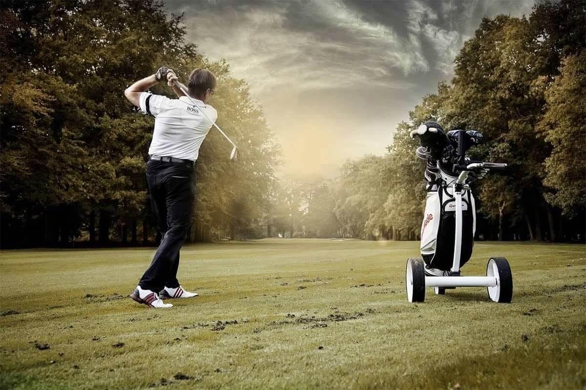 Golfspieler Golfclub Niederrheinischer