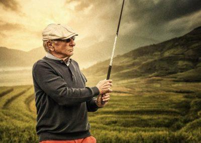 Golfspieler Portrait
