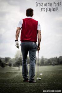 Golfspieler im Ruhrgebiet