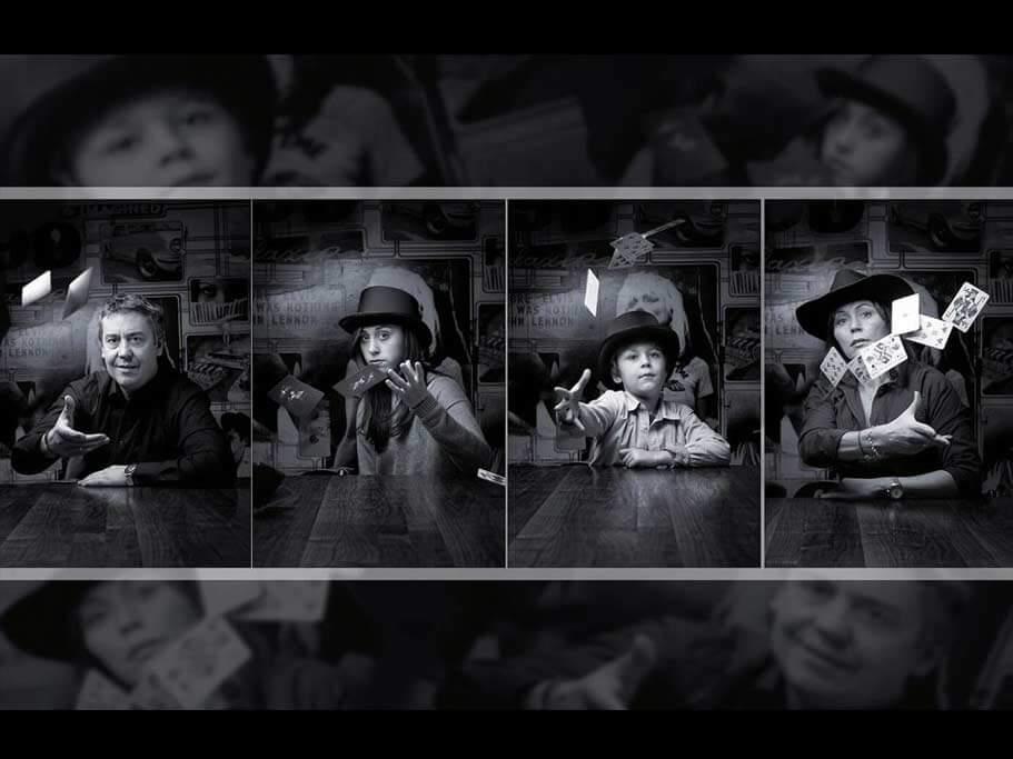 Neugeborenes Kind beim Fotoshooting