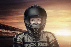 Motorradfahrer & Sonnenuntergang