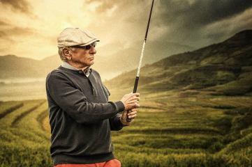 Golfspieler Golfclub in Duisburg