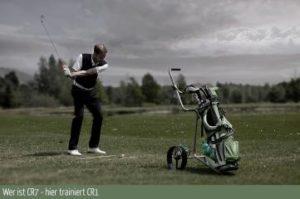 Golfer beim Training