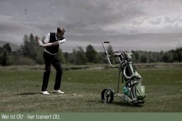 Golfspieler beim Training