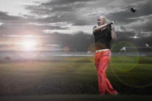 Portrait eines Golfspielers