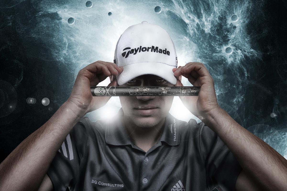 Golfspieler Composing