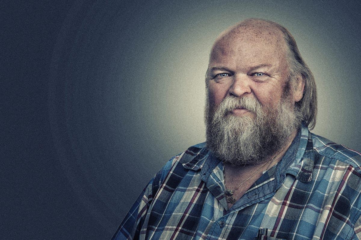 Mann mit Bart im Portrait